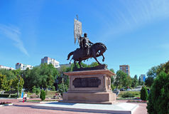 Monument till prinsen Georgy Zasekin samara Ryssland Royaltyfria Bilder