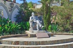 Monument till prinsen Golitsyn i den nya världen crimea arkivbild
