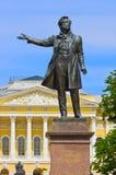 Monument till Pushkin i St Petersburg, Ryssland Arkivfoton
