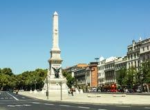 Monument till restauratorerna, Lissabon. Arkivbild