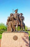 Monument till skotska invandrare på Penns landning av Philadelphia Royaltyfria Foton