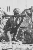 Monument till soldat-afghanerna Arkivfoto