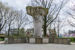Monument till soldater av polermedelhemarmén som som är stupad i kamp med kommunismrepressioner mellan 1944-1953 Royaltyfria Foton