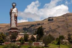 Monument till St Peter i Alausi, Ecuador Royaltyfri Bild