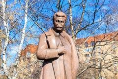 Monument till Stalin Parkera av konst`-Museon `, moscow Arkivbild