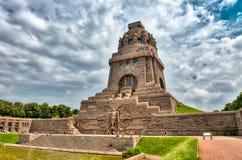 Monument till striden av nationerna, Leipzig, Tyskland Fotografering för Bildbyråer