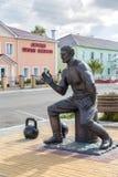 Monument till strongmanen Prokofiy Ryabov Panino Ryssland Royaltyfria Foton
