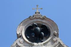 Monument till stupade krighjältar i Portoferraio, Italien Arkivfoton