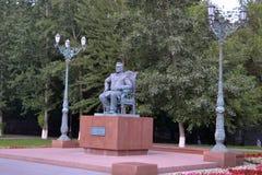Monument till Tekutyev. Tyumen Royaltyfria Foton