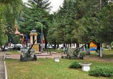 Monument till Traian Mosoiu i kli romania Royaltyfria Foton
