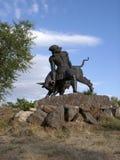 Monument till Trdat det stort i Abovyan, Armenien Arkivfoton