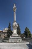 Monument till Triumph av oskulden i trädgårdarna av triumfen, Royaltyfri Bild