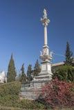 Monument till Triumph av oskulden i trädgårdarna av triumfen, Arkivfoto