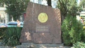Monument till tsar Boris III i Varna, Bulgarien arkivfilmer