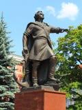 Monument till tsar Peter I Kaliningrad Arkivbild