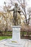 Monument till tsar Samuel i mitten av Sofia, Bulgarien Arkivbild