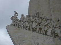 Monument till upptäckterna i staden av Lissabon Portugal Europa royaltyfri foto