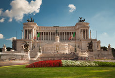 Monument till victoren Emmanuel II, Rome Royaltyfri Bild