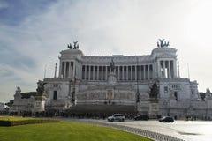 Monument till victoren Emmanuel II, Rome Arkivfoto