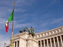 Monument till victoren Emmanuel, Rome Royaltyfri Bild