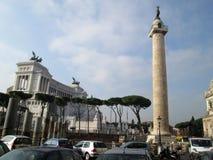 Monument till Vittorio Emanuele II - piazza Venezia - obelisk - Rome Italien Europa fotografering för bildbyråer
