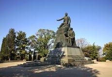 Monument till Vladimir Kornilov i Sevastopol ukraine Arkivbild
