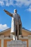 Monument till Vladimir Lenin i den stads- byn Panino, Ryssland Fotografering för Bildbyråer