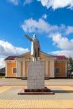 Monument till Vladimir Lenin i den stads- byn Panino, Ryssland Royaltyfri Fotografi