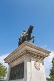 Monument tiré à quatre épingles à Barcelone, Espagne Image libre de droits