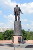 The Monument to Academician Korolev in Moscow Stock Images