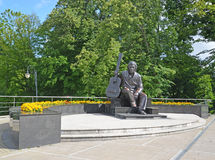 Monument to the actor Vladimir Vysotsky in Kaliningrad Royalty Free Stock Images