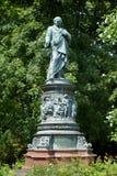 Monument to Adalbert Lanna in Ceske Budejovice Stock Photos