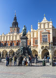 Monument to Adam Mickiewicz in the Market Square royalty free stock photography