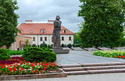 Monument to Adam Mickiewicz, Vilnius, Lithuania Royalty Free Stock Photos