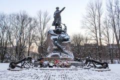 Monument to Admiral Makarov. Royalty Free Stock Photos