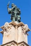 Monument to Admiral Roger de Lluria in Tarragona Royalty Free Stock Photo