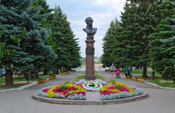 Monument to Admiral Ushakov in Rybinsk, Russia Stock Photos