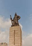 Monument to admiral Yi Sun-shin in Seoul, Korea Royalty Free Stock Photo