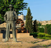 Monument to Agricultor with a spud, Toledo, Spain Royalty Free Stock Photos