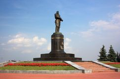Monument to airman Valery Chkalov in Nizhny Novgorod Royalty Free Stock Photos