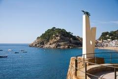 Monument to albatross in Tossa de Mar, Catalonia, Spain, Costa B Royalty Free Stock Photo