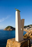 Monument to albatross in Tossa de Mar, Catalonia, Spain, Costa B Royalty Free Stock Images