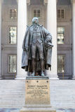 Monument to Albert Gallatin. This is a statue of Albert Gallatin outside the Department of the Treasury in Washington, DC Stock Photo
