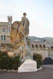 Monument to Albert I in Monaco-Ville. Principality of Monaco Stock Image