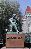 Monument to Aleksis Kivi in Helsinki Stock Photo