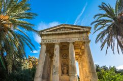 Monument to Alexander Ball in the Lower Barrakka Gardens, Vallet. Ta, Malta Stock Images