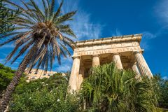 Monument to Alexander Ball in the Lower Barrakka Gardens, Vallet. Ta, Malta Royalty Free Stock Photo