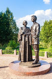 Monument to Alexander Blok and Lyubov Mendeleev Royalty Free Stock Photography