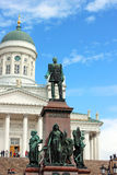 A monument to Alexander II on the Senate Square. In Helsinki Royalty Free Stock Images