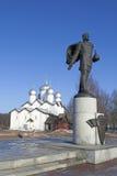 The monument to Alexander Nevsky, Pskov, Russia Royalty Free Stock Photo